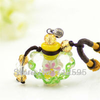 2013 new arrival art blown pendant glass vial necklace jewelry maker