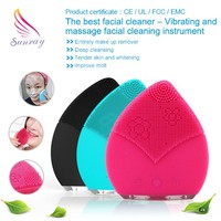 latest products facial muscle stimulator Silicone Facial cleansing brush