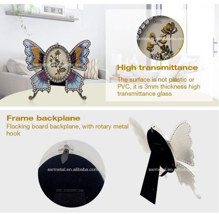 Butterfly shaped high quality cute baby photo frame Decorative