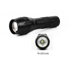 Wholesale High Power XML T6 Rechargeable Torch Zoomable Tactical LED Flashlight