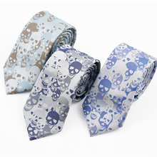Create Your Own Brand Skull Logo Mens Silk Tie with Private Label