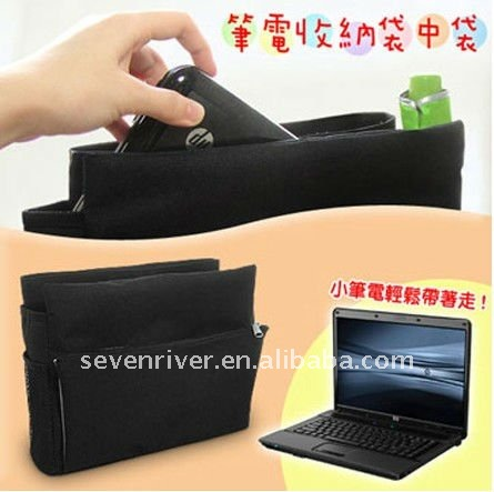 Fashion Computer Organizer Bag/Bag Inner Pouch/Black Bag Organizer