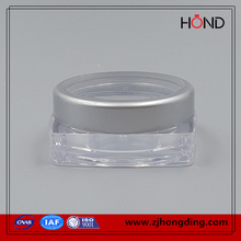 special quality 3g acrylic new plastic bottle square acrylic cosmetic packaging/wholesale jar