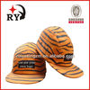 Oem alibaba china custom woven labe tiger pattern 5 panel cap