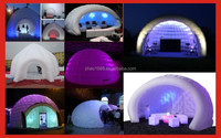 Newest Design Colorful Led Wedding Tent Inflatable Dome Tent For Sale