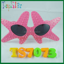 2016 high quality party glasses custom logo star shape glasses