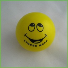 Custom Cute Smile Face Rounded Anti Stress PU Ball