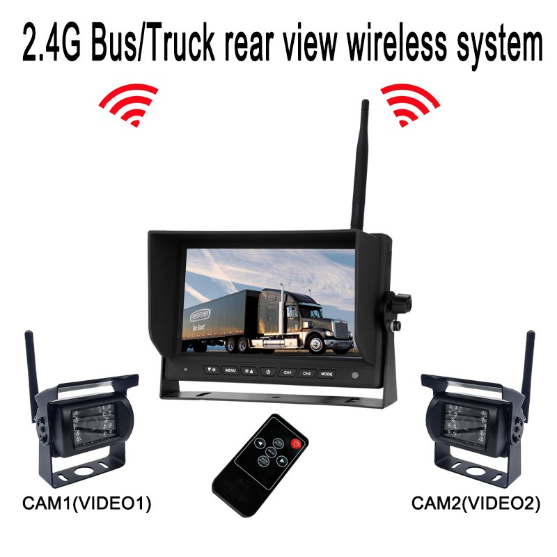 2018 New backup camera systems system for bus monitor