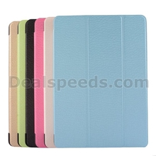 Diamond Texture Tri-Fold Leather Flip Case for iPad Air 2/iPad 6