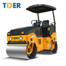 China 3 ton new double drum road roller price