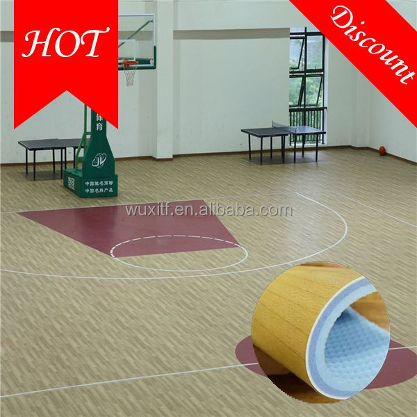 Unique style high quality basketball court sport laminated wood flooring
