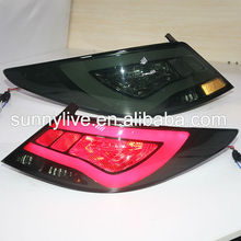 Accent Verna Solaris For Hyundai LED Tail Lamp 2011-13 year YZ Type Smoke Black Color