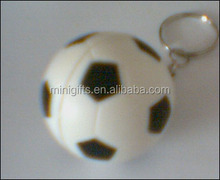 high quality pu ball branded soccer balls with keychain