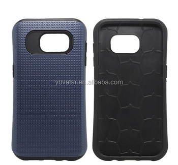 PC + silicon Hybrid Drop resistance Phone cover Case For Samsung Galaxy S7 Case