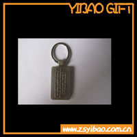 2014 shiny silver KEYCHAIN with logo embossed with split ring