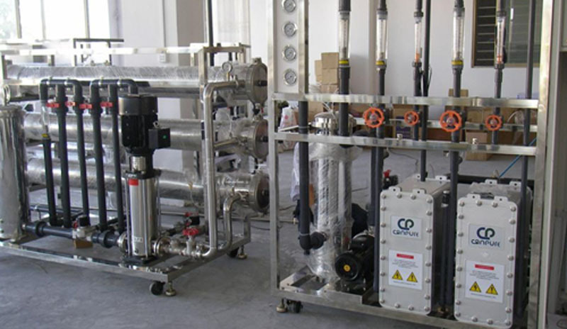 250LPH reverse osmosis and EDI ultra pure water machine for pharmacy industry