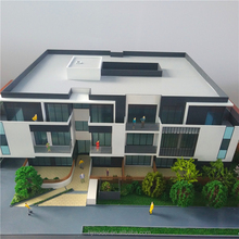 miniature building with architectural model mini human figure for plastic villa model