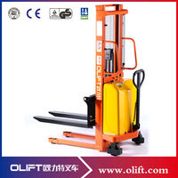 Battery operated 2.0 ton hydraulic semi-electric manual hand stacker forklift