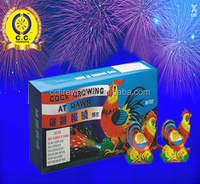 high quality cock crowing peacock fireworks for wholesale