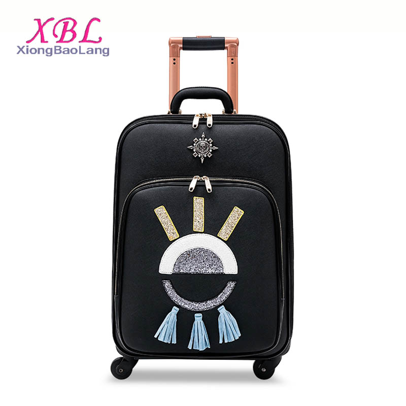 XBL Custom suitcases luggage laptop black trolley bags best carry on luggage bagage