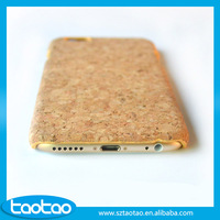 Wholesale mobile phone case soft wood cork cellphone case wooden case cover for iphone 6 6s