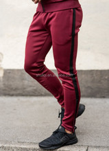 100% Polyester Smooth Feel Tapered Sweat Joggers Pants Wholesale Mens