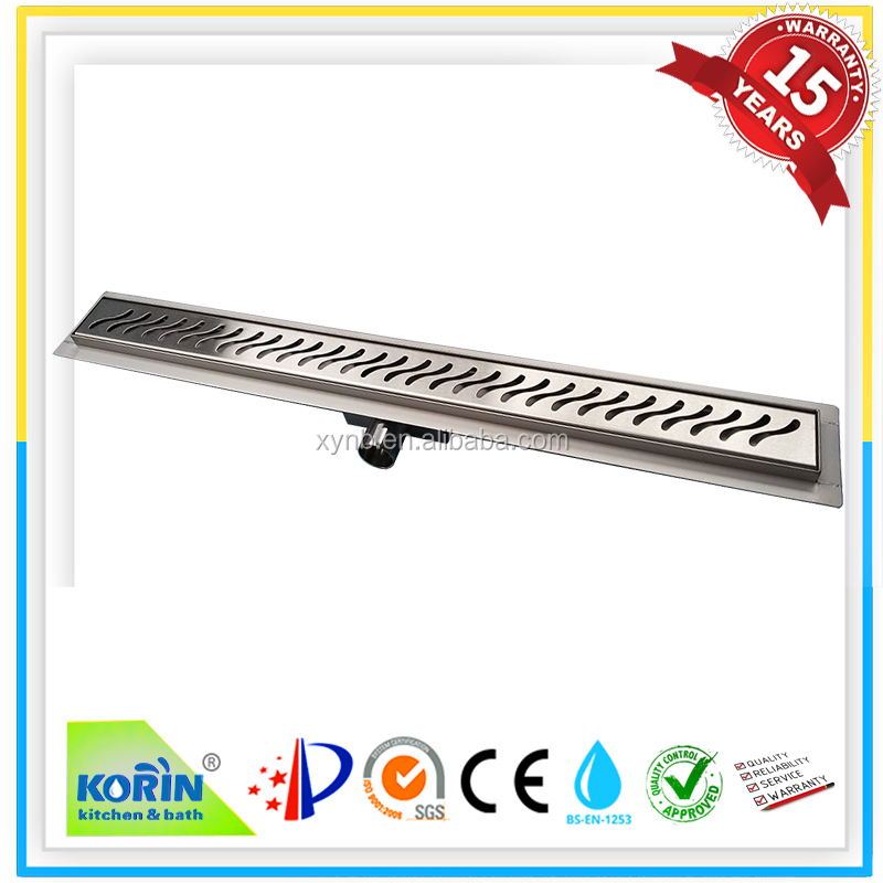 Factory direct sale high quality stainless steel linear shower drain channel/floor drain/ stainless steel shower drain