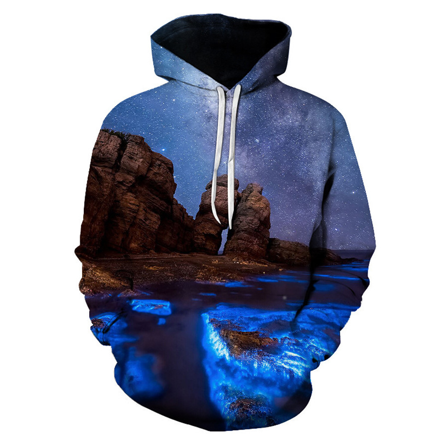 Wholesale custom 3D sublimated printed sweatshirt sweater hoodies