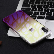 Fashion gradient color Cellphone moblie cover phone case back support printing for iPhone 7 8 for iPhone X