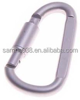 fashion mini aluminium screw lock carabiner