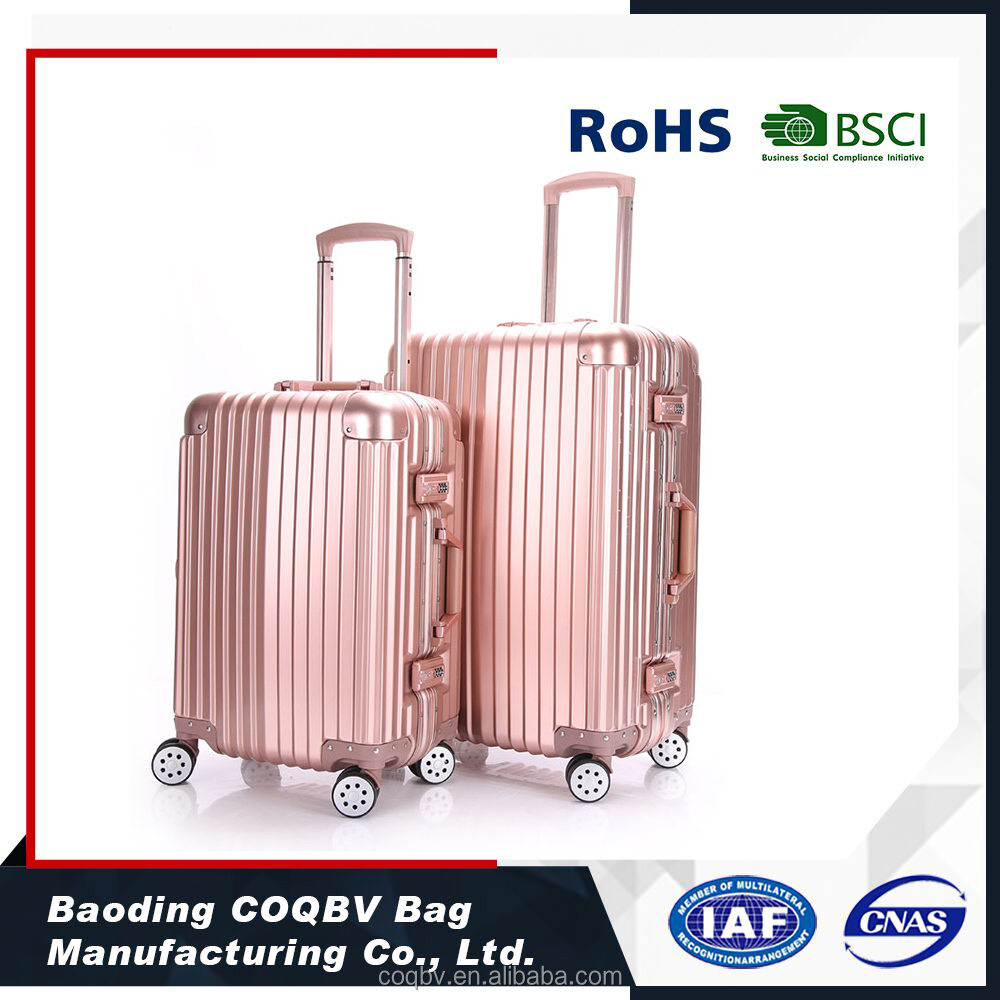 COQBV abs pc aluminum luggage case