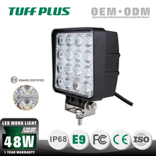 2015 NEW auto lighting products 48W square led work light with chrome reflector