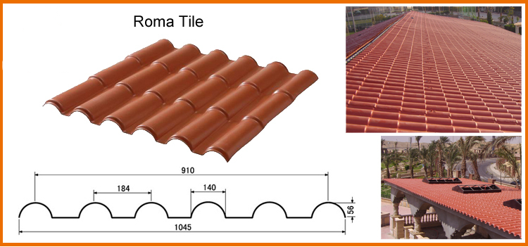 Colonial Roofing Tiles Pvc Used Corrugated Synthetic Resin