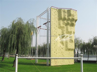 Easy install easy move mobile rock climbing wall