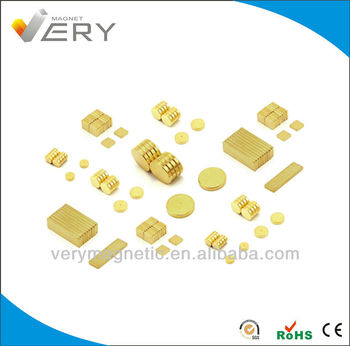 strong NdFeB Magnet block gold coating