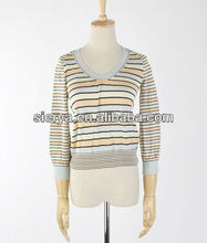women's stripes knitwear