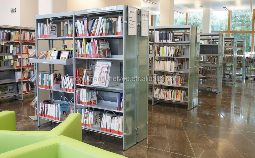 University Library Metal Steel Portable Book Shelf
