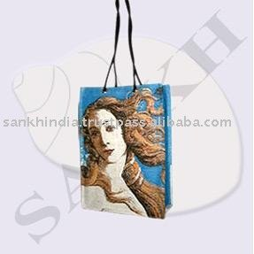 blue colour Printing Bag