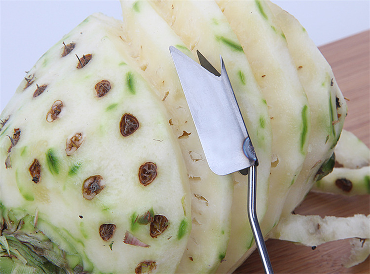 Stainless steel pineapple eye remover knife