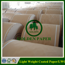 pure pulp Light weight coated printing paper( lwc paper )