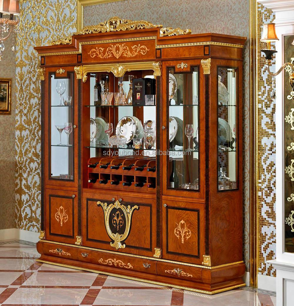 0038 European Neo Classice Living Room Showcase Design Wooden Wine Cabinet Buy Living Room