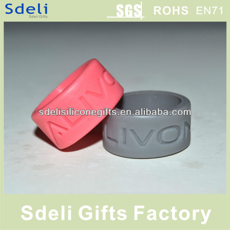 Cheap promotion custom debossed silicone thumb ring/silicone rubber ring