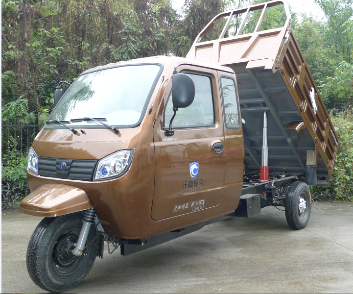 full-closed Hydraulic cabin manufacture made dumper Cargo Tricycle