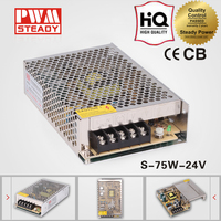 220v ac to 24v dc converter 75w power supply unit s-75w 3a led smps