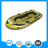 Factory supply 2 persons boat durable pvc inflatable fishing dinghy