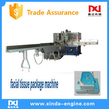 2017 full automatic PE plastic film soft facial tissue package machine