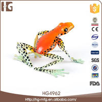 Charming design metal frog with flower 16x14x9CMH HG4962 hand made decoration with high quality