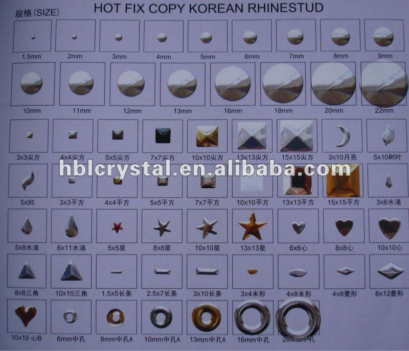 Hot fix copy Korean Rhinestud