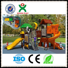 Outdoor Plastic Playground Slide And outdoor playground accessories for children's games(QX-024C)