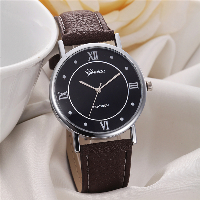 Geneva lady bracelet wrist watch women